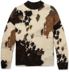 Dries Van Noten Oversized Intarsia Wool-Blend Sweater