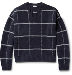 Dries Van Noten Checked Wool Sweater