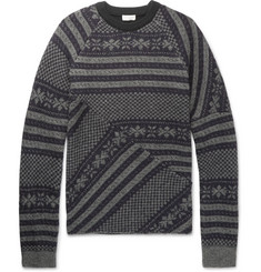 Dries Van Noten Fair Isle Wool-Blend Sweater