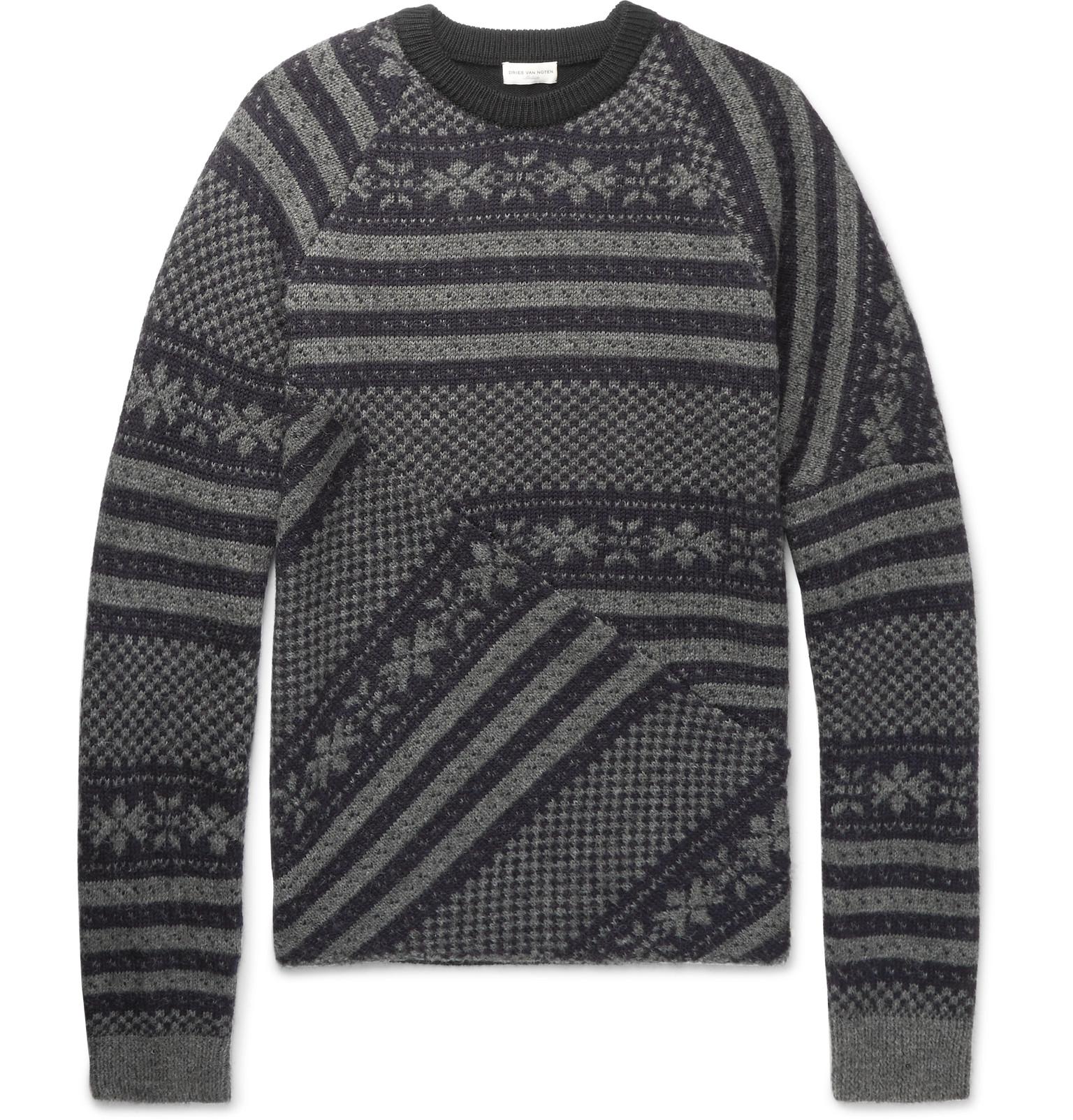 Dries Van Noten - Fair Isle Wool-Blend Sweater