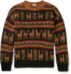 Dries Van Noten Oversized Fair Isle Wool-Blend Sweater