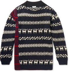 Dries Van Noten Fair Isle Patchwork Wool-Blend Sweater