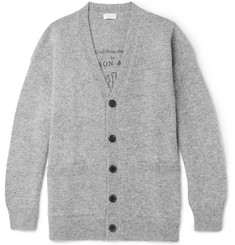 Dries Van Noten Oversized Shetland Wool Cardigan