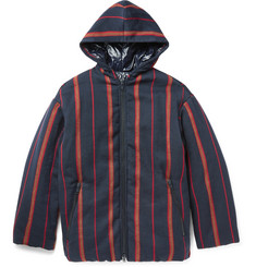 Dries Van Noten Oversized Striped Twill Jacket