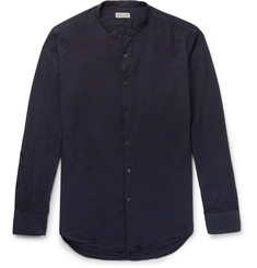 Dries Van Noten Slim-Fit Grandad-Collar Washed Cotton-Muslin Shirt