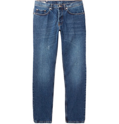 Dries Van Noten Pender Slim-Fit Distressed Denim Jeans