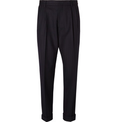 Dries Van Noten Philip Herringbone Wool Trousers