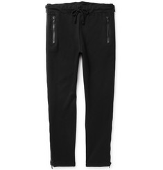 Dries Van Noten Slim-Fit Tapered Zip-Detailed Cotton-Blend Jersey Sweatpants