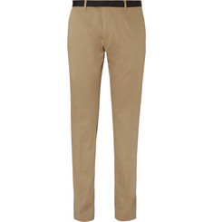Dries Van Noten Peeler Slim-Fit Grosgrain-Trimmed Cotton-Twill Trousers
