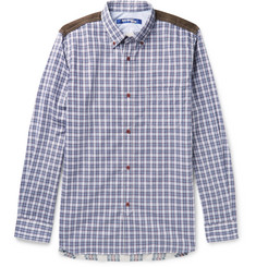 Junya Watanabe Patchwork Checked Cotton-Poplin and Flannel Shirt