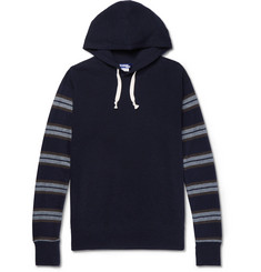 Junya Watanabe Stripe-Panelled Cotton and Wool-Blend Hoodie