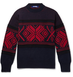 Junya Watanabe Jacquard-Knit Wool-Blend Sweater