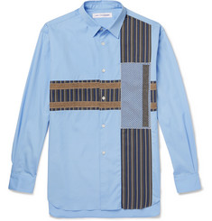 Comme des Garçons SHIRT Patchwork Cotton-Poplin, Jacquard and Jersey Shirt