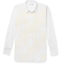 Comme des Garçons SHIRT Patchwork Cotton-Poplin, Corduroy and Jersey Shirt