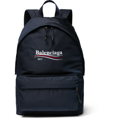 Balenciaga Explorer Embroidered Canvas Backpack