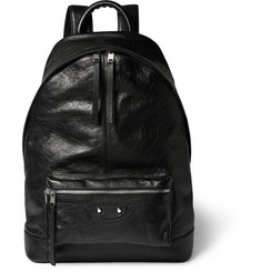 Balenciaga Arena Creased-Leather Backpack