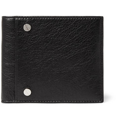 Balenciaga Arena Creased-Leather Billfold Wallet