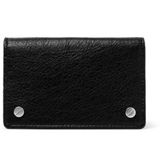 Balenciaga Arena Creased-Leather Cardholder