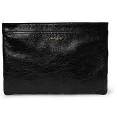 Balenciaga Ligne Creased-Leather Pouch