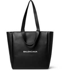 Balenciaga Printed Leather Tote Bag