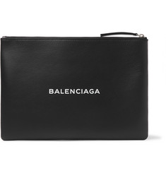 Balenciaga Printed Medium Textured-Leather Pouch