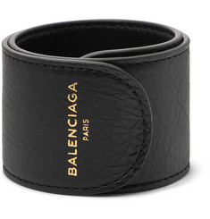 Balenciaga Cycle Arena Creased-Leather Cuff