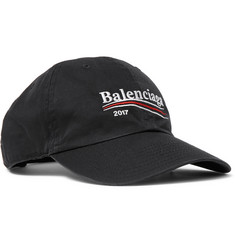Balenciaga Embroidered Cotton Baseball Cap