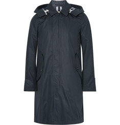 Burberry Waxed Cotton-Blend Gabardine Hooded Raincoat