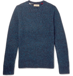 Burberry Donegal Mélange Wool, Cashmere and Mohair-Blend Sweater