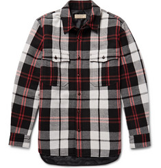 Burberry Quilted Checked Wool-Blend Overshirt