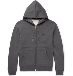 Burberry - Fleece-Back Cotton-Blend Jersey Hoodie