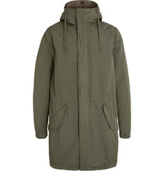 Aspesi Faux Shearling-Lined Shell Hooded Parka