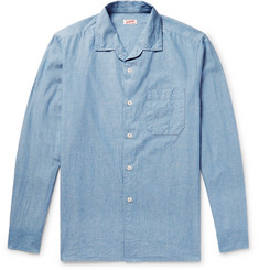 Arpenteur - Camp-Collar Cotton-Chambray Shirt