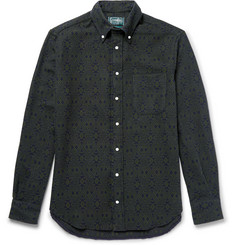 Gitman Vintage Button-Down Collar Printed Cotton-Flannel Shirt