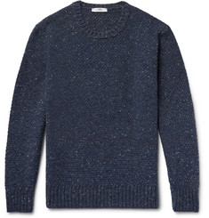 Inis Meáin - Moss Slim-Fit Mélange Merino Wool-Blend Sweater