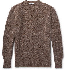 Inis Meáin - Aran Cable-Knit Mélange Merino Wool and Cashmere-Blend Sweater