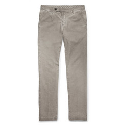Massimo Alba Slim-Fit Watercolour-Dyed Herringbone Cotton and Wool-Blend Trousers