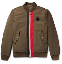 Moncler Tacna Striped Twill Down Bomber Jacket