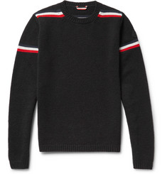 Moncler Striped Intarsia Wool Sweater