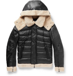 Moncler - Tancrede Shearling-Lined Leather and Quilted Shell Jacket