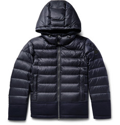 Moncler Riom Wool-Trimmed Quilted Shell Jacket