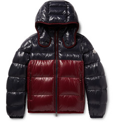 Moncler - Harry Colour-Block Quilted Shell Hooded Down Jacket