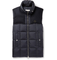 Moncler Cesar Wool-Trimmed Quilted Shell Down Gilet
