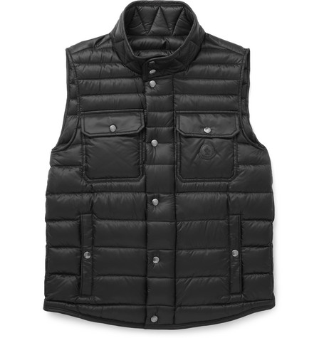 Moncler Ever Light Quilted Shell Down Gilet In Black