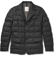 Moncler - Rodin Quilted Wool-Flannel Down Jacket