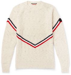 Moncler Flecked Wool and Alpaca-Blend Sweater