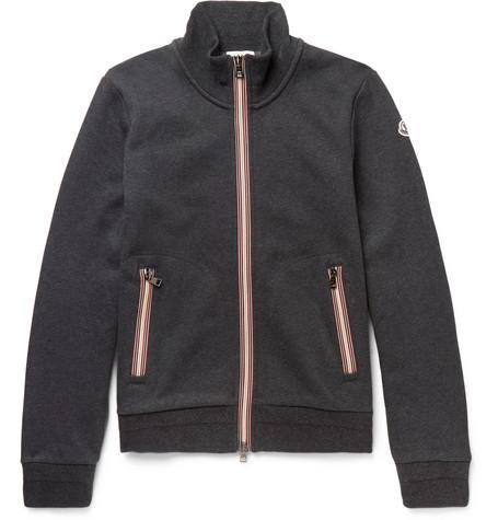moncler zip up sweatshirt