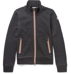 Moncler Fleece-Back Cotton-Jersey Zip-Up Sweatshirt