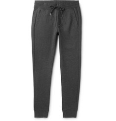 Moncler Slim-Fit Tapered Mélange Fleece-Back Cotton-Jersey Sweatpants