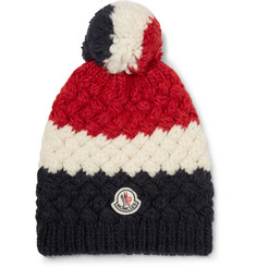 Moncler Colour-Block Knitted Bobble Hat